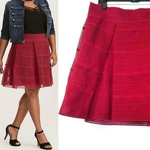 Torrid Raspberry Flared Retro Style Skirt - NEW